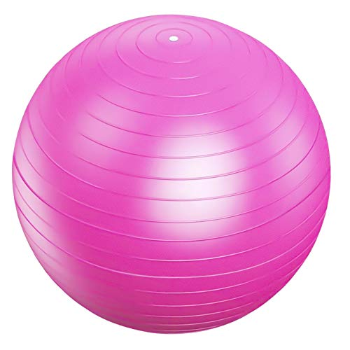 75cm Pelota de Ejercicio, Anti Explosión Pelota de Gimnasia, Fitness Balón de Bomba, Pelota de Yoga Embarazo, Fitball Pilates Pelota, Pelota de Equilibrio para Entrenamiento Deportes (Rosa)