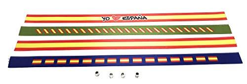 Pulseras de tela con la bandera ESPAÑOLA en pack de 4 unidades | Pulsera con la BANDERA DE ESPAÑA | Regalo original