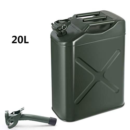 DLYDSS 5L-20L Amerikanischen Mehrzweckkanister, Verdickte Benzintank, Beweglich, Mit Ölführungsrohr, Ersatzkraftstofftank for Motorräder Und Automobile (Size : 20L)