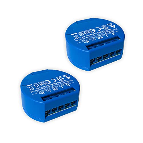 SHELLY 1 One Relay Switch Wireless WiFi Home Automation iOS Android Application + 2 pack UL