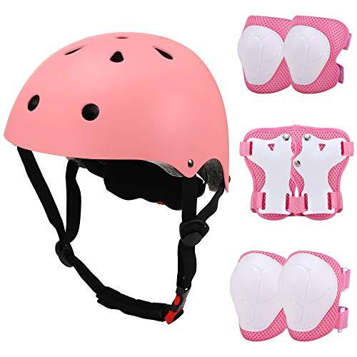 Lixada Casco Bici Protezioni Set per Bambini,7 in 1 Bici Protezioni Set Protezione di Casco per Skateboard Pattini in Linea Bicicletta Protezione Skateboard