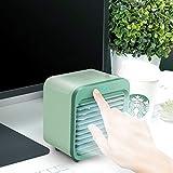 MEVIDA Personal Air Cooler,''Evaporative Portable Air Conditioner Fan,Small Space USB Air Cooler,Mini Table Fan,Compact Air Humidifier Evaporative Cooler Green 12.210.814.2cm/4.84.35.6inch