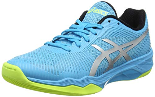 ASICS Damen Volley Elite FF Volleyballschuhe, Blau (Aquarium/Silver 400), 39.5 EU