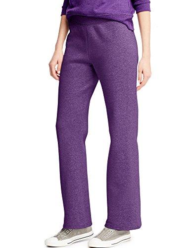 Hanes Women's ComfortBlend Fleece Sweatpants (L, Violet Splendor Heather)