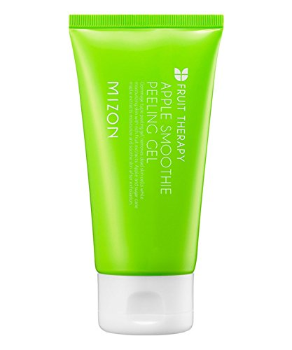 Mizon Apple Smoothie Peeling Gel, Glowing Smooth Skin, Elasticity, Natural and Mild Peeling with Gentle Exfoliation, Brightening and Deep Cleansing 120ml, 4.1 fl oz