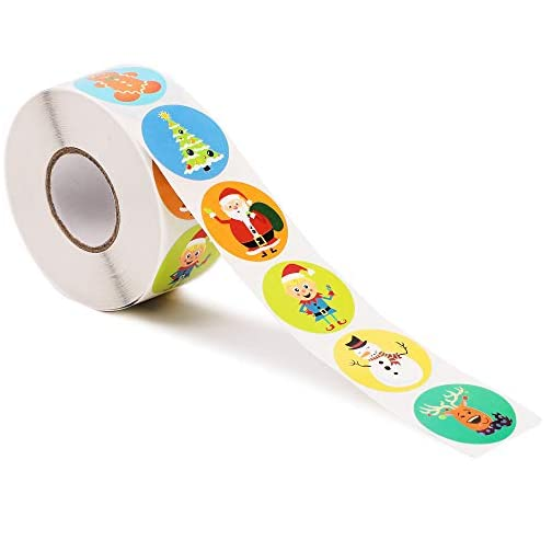 Christmas Stickers, Holiday Sticker Roll (1.5 in, 1000 Pieces) |