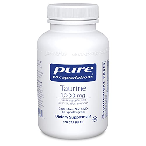 Pure Encapsulations Taurine 1,000 mg | Amino Acid Supplement for Liver, Eye Health, Antioxidants, Heart, Brain, and Muscles* | 120 Capsules