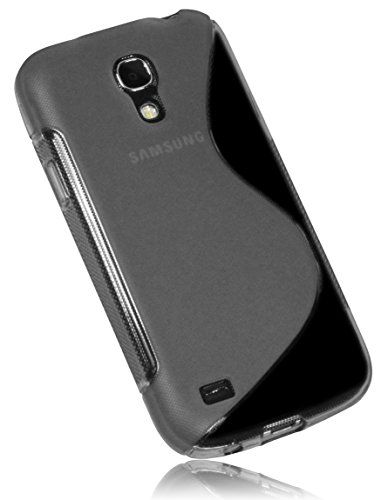 Mumbi - Cover in TPU per Samsung Galaxy S4 mini, Nero trasparente