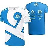 73HA73 Camisetas de E-Sport para Hombres Overwatch CLOUD9 Esports Uniform Sudaderas Cómodas y Transpirables T-Shirts