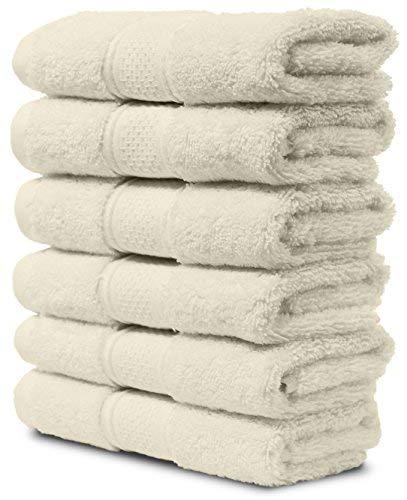 Maura 6 Piece Washclothes Set. Extra Large 13'x13' Premium Turkish Towels. Thick, Soft, Plush and...