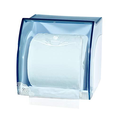 Hotaluyt WC Mini Typ Rollenpapierspender Wand befestigte Toilettenpapierhalter Badezimmer-Gewebe-Kasten