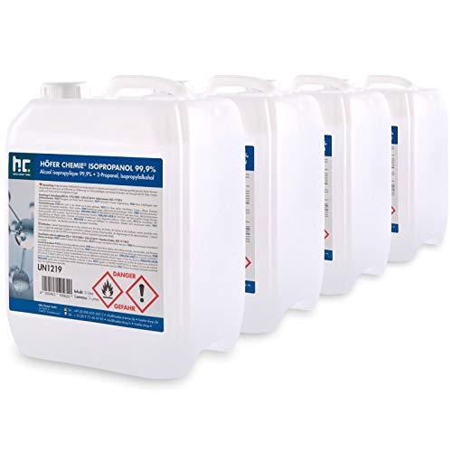 Höfer Chemie 4 x 5 L Isopropanol 99,9% IPA