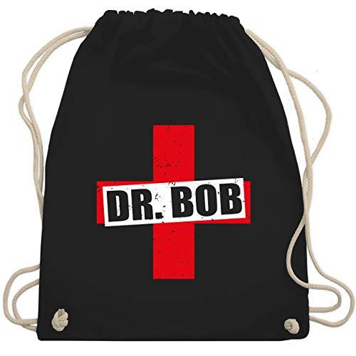 Shirtracer Karneval & Fasching - Dr. Bob Kostüm Kreuz - Unisize - Schwarz - dschungelcamp kostüm - WM110 - Turnbeutel und Stoffbeutel aus Baumwolle