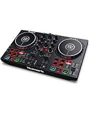 Numark DJコントローラー LEDライト搭載 初心者向け Serato DJ Lite djay Pro AI対応 iOS ストリーミング DJ配信 ポータブル Party Mix II