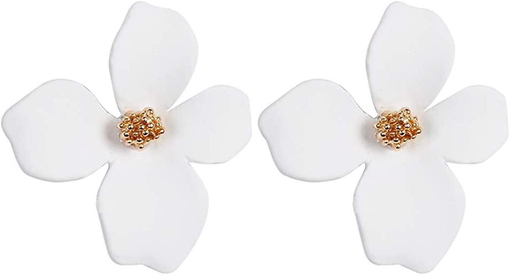 Boho Stud Earrings for sale Women Safety and trust wi - Flower Statement Chic