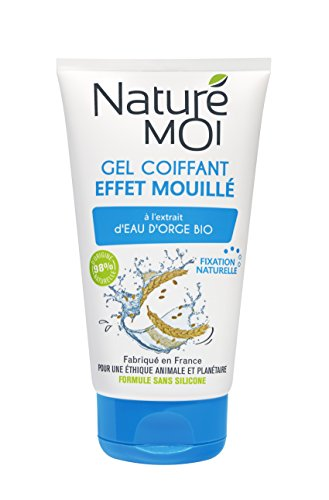 Naturé Moi – Gel coiffant effet mouillé à l'extrait d'eau d'orge bio – Non gras et non collant – 150ml