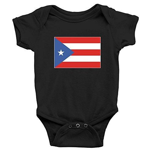 Teeburon Puerto Rico Flag Body de bebé