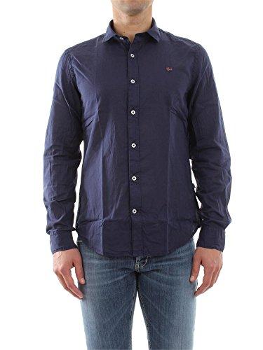 Napapijri Herren Slim Fit Freizeit Hemd GOME, Gr. Kragenweite: 42 cm (Herstellergröße: L), Blau (SPACE B94)