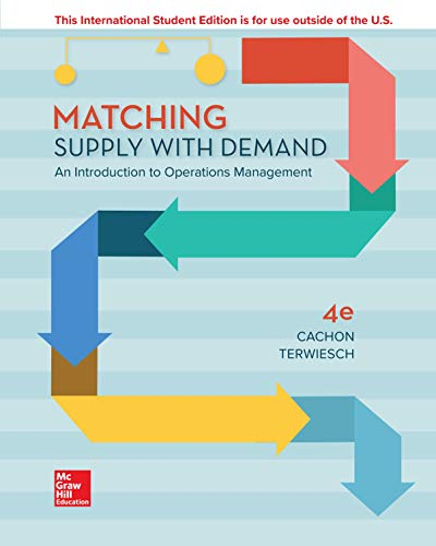 Cachon, G: ISE Matching Supply with Demand: An Introduction