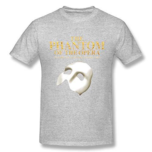 The Phantom of The Opera Men's Basic Short Sleeve T-Shirt Fashion Printed Casual Short Sleeve Cotton Gray XL