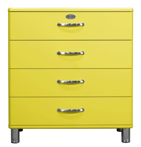 Tenzo 5124-002 Malibu - Designer Kommode 92 x 86 x 41 cm, MDF lackiert, gelb
