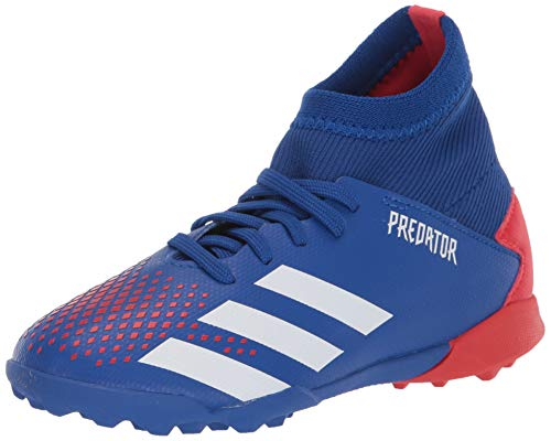 adidas Boys' Predator 20.3 Tf J Sneaker, Team Royal Blue/FTWR White/Active Red, 10.5K M US Little Kid