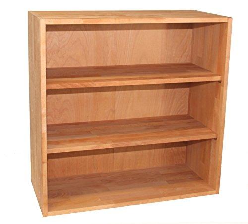 Großes Bücherregal, Sideboard, Kommode, Regalwürfel aus Massivholz Buche, erweiterbar, echtes Holz