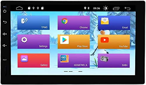 Android 9.0 Radio estéreo estándar universal para automóvil con pantalla táctil de 7 pulgadas Soporte de navegación GPS Bluetooth WiFi Mirror Link AUX USB SD Cámara de respaldo Control del volante