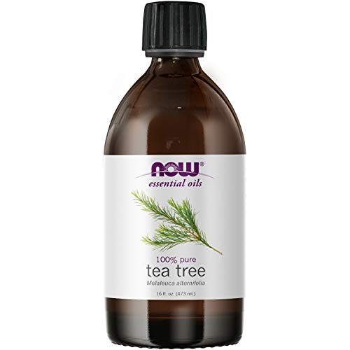 NOW Essential Oils, Tea Tree Oil, Cleansing Aromatherapy Scent, Steam Distilled, 100% Pure, Vegan, Child Resistant Cap, 16-Ounce