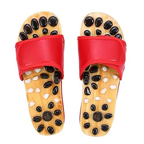 UXZDX Zapatos for Hombre de Masaje del pie Diapositivas de adoquines Cubierta pedicura Punto de acupuntura Salud Plana Zapatillas (Size : 41)