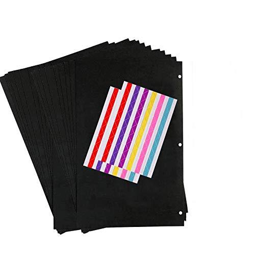 ZEEYUAN Tonkarton 20 Blatt Kraftpapier mit Ringloch Papier Geschenke zum Basteln 13,7 * 20,7cm DIY-Bedarf für DIY Scrapbooking Dekor