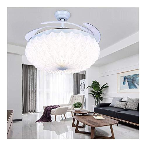 Exquisita Araña Cubierta, de 52 Pulgadas Ventilador de la lámpara Invisible, Moderna Simple de la Sala de Estar del Dormitorio del hogar de la lámpara [energética A +]