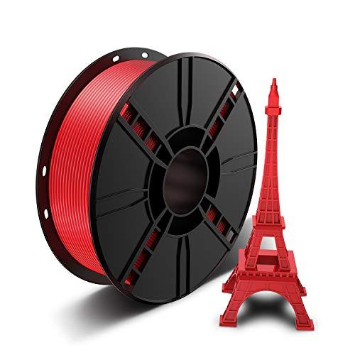 Filamento PLA 1,75 mm, LABISTS Stampante 3D Printer Filament PLA, 1 KG Spool (2,2 libbre) Filamento della Stampante, Tolleranza Dimensionale ± 0.02mm, PLA Rosso
