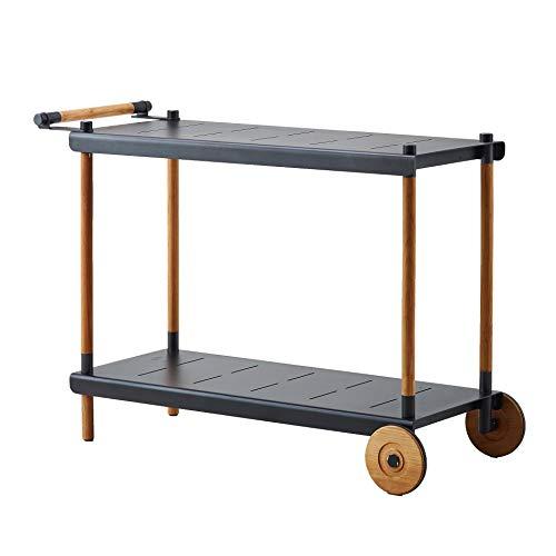 Cane-line® Frame Servierwagen, Teak lavagrau pulverbeschichtet BxHxT 115x82x48cm
