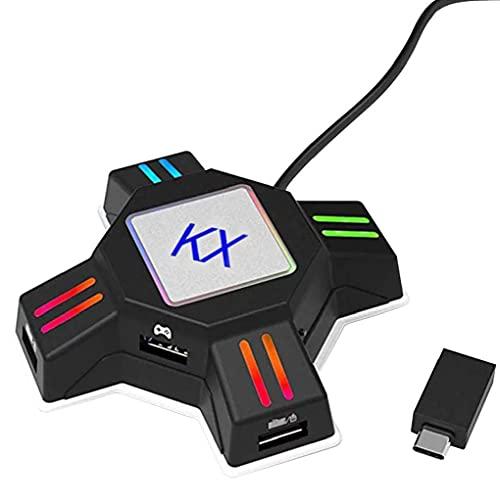 Adaptador de mouse del teclado GamePad Controller Converter KX Converter Switch Accesorios...