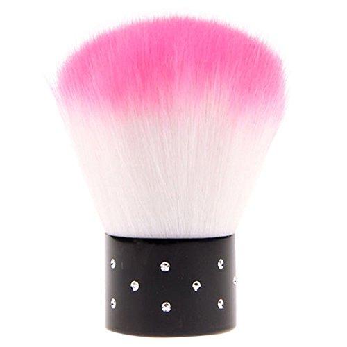 NiceButy Nagelpinsel zum Entstauben, weicher Pinsel für die Reinigung, Beauty-Werkzeug, klein, mit Strass, für Nail Art, für das Gesicht, UV-Gelnägel, Farbe zufällig gewählt