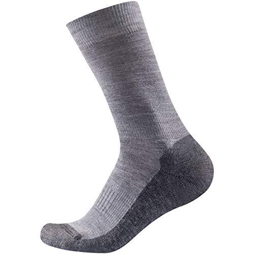 Devold Multi Medium Sock Grau, Merino Socken, Größe 35-37 - Farbe Grey Melange