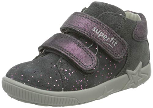 Superfit, Baby - Mädchen, Lauflernschuh, Sneaker, GRAU 2000, 24 EU