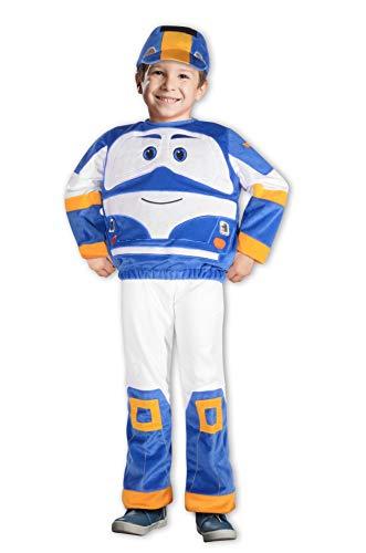 Ciao-Kay trenino Robot Trains costume bambino, 2-3 anni, Blu, Bianco, 11265.2-3