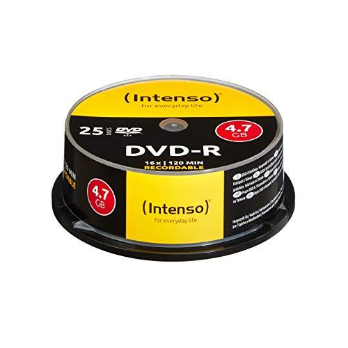 Intenso DVD-R Rohlinge 4,7GB 1x-16x 25er Spindel Cakebox kratzfest