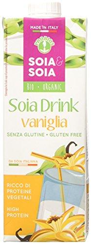 Probios Bevanda di Soia con Vaniglia - 10 pezzi da 1 l [10 l]