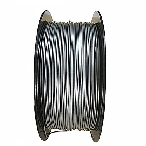 NO LOGO LSB-3D Prints, 1pc 20% de Metal + 80% PLA 3D Impresora filamento de Metal PLA Filament 1,75 mm de Bronce de Aluminio de Aluminio de Cobre Impresora 3D Filamento (Color : 100g Aluminum)