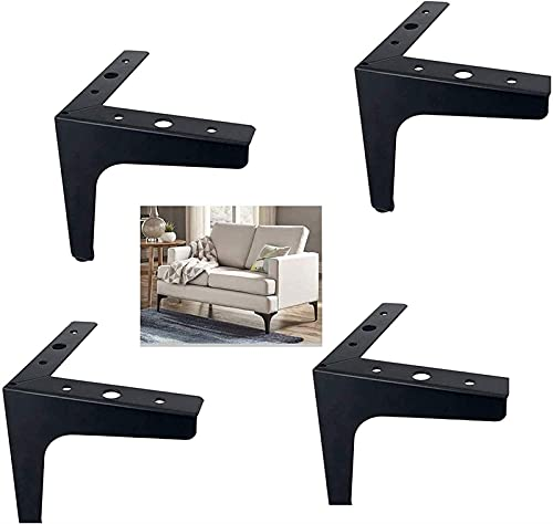 XBCDX Juego de 4 Patas de Muebles Triangulares, Patas de sofá de...
