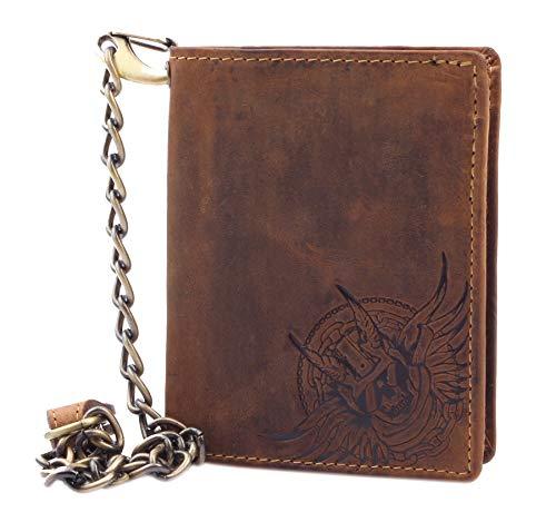 Greenburry portemonnee met ketting Bikerörse Devil-Skull hoog met RFID-bescherming portemonnee truckerbeurs 1701-DS-25