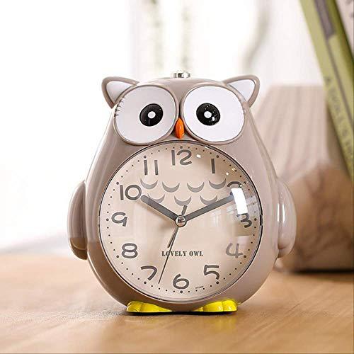 Lindo Búho Reloj Despertador Creativo Relojes Luminosos Estudiante Música Despertador Despertador Cumpleaños Decoración De Habitación De Niños Gris