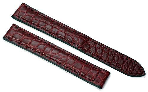 15 mm Alligator armband passend bij Cartier vouwsluiting Duits handwerk