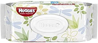 Huggies Natural Care Fragrance Free Baby Wipes, 112 Total Wipes 56 Count Each (Pack of 2)