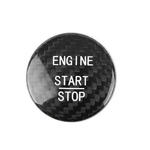 JMY Carbon Fiber Sports Engine Start Stop Button Cover For Mercedes Benz A B C GLC GLA CLA ML GL Class W176 W246 W205 X 253 X156 C117, Engine Switch Power Ignition Replacement(Black)