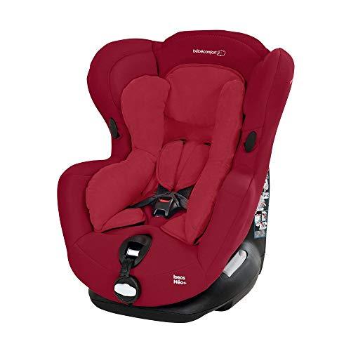 Bébé Confort Iseos NeoPlus Seggiolino Auto 0-18 kg, Gruppo 0 +/1 per Neonati e Bambini fino ai 4 Anni, Reclinabile e Facile da Installare, Cuscino Riduttore, Colore Raspberry Red