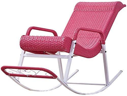Decoración Viva Silla reclinable/Silla de jardín Diseño Simple Máximo 150 kg/Cómodo de Usar Adecuado para Verano Patio/Terraza Balcón/Fiesta Uso Rosa